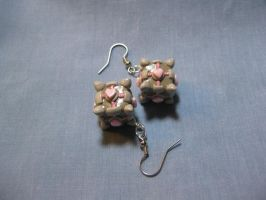 Companion Cube Earrings by okapirose