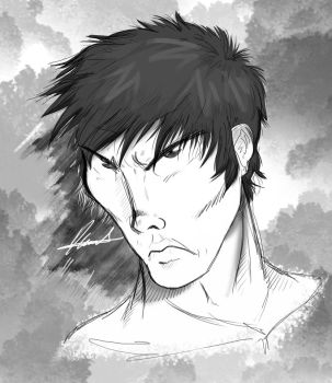 Bruce Lee Face by diegoa4545