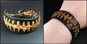 Woven Leather Cuff Bracelet by sylva
