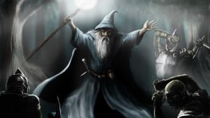 Gandalf Fighting Orcs by Suc-of