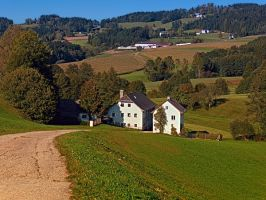 Beautiful traditional farmland scenery by patrickjobst