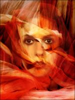 Veiled in red by fotojenny