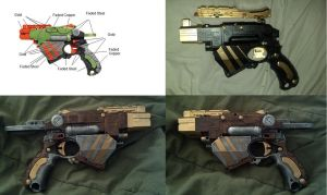 Nerf Steampunk Proton Progression by DrDisco777