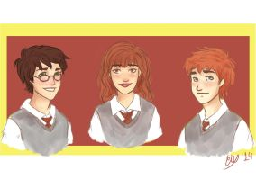 The Golden Trio by Cordilia61