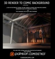 3d render to comic background step by step by Detkef