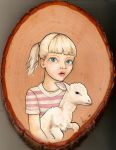 Little Girl + Lamb by angiethepirate