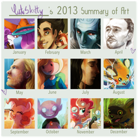 Summary of art 2013 by CuteSkitty