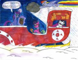 BookisDelight's Christmas Sleigh by Gojira007