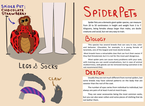 Spider Pets - (Open Species) by Thaina-Zanello