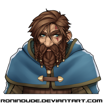 Daily Drawing - Arngrim's Hair by RoninDude