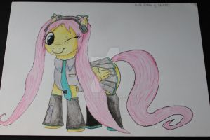 Fluttershy as Hatsune Miku by Teti2000