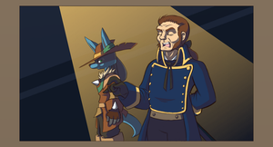Javert and a Lucario by ohgoshdarnthesecond