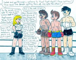 Boxing Angelica vs Guys by Jose-Ramiro