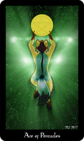Vulpine Tarot - Ace of Pentacles by Mabon-Tail