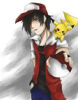 Pokemon Trainer Red by thecatstrikesback