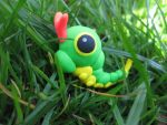 10. Caterpie by claydoodles