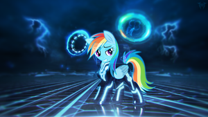 Rainbow Dash On The Grid by mtgman96