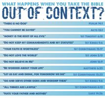 What happens if you take the Bible out of context? by kevron2001