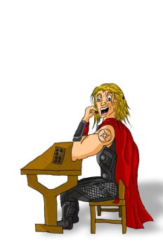 Thor drawing by frantic0466