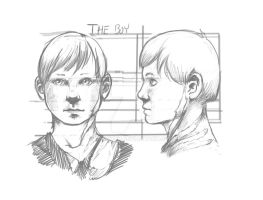Future Comic Child Face/Scar Study by crMeyer