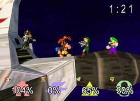 Banjo in Smash 64-screenshot by Pika-Robo