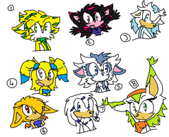 Sonic adoptables closed by demonmoo