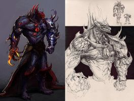 Demon Horus: character study by saint-max