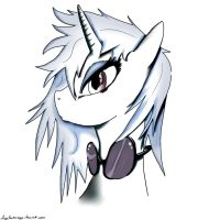 Vinyl Scratch Manga Style  Black And White  By Dry by Mint-Bery