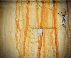 Rust Stained Wall by PAlisauskas