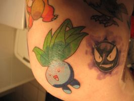 Oddish Tattoo by CandaceIsVampire