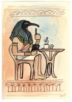 Thoth prefers extra foam by dancingheron