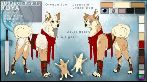 .:Roya, The Assassin Dog:.  Reference Sheet 2015  by FluffyNap