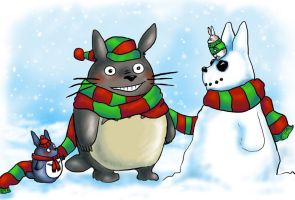 Totoro's Christmas by staticgirl