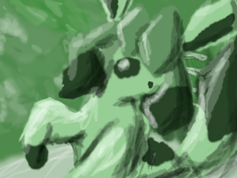 Green Glaceon by WindyKirlia30