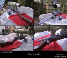 Team Fortress 2 Sniper Rifle Mk 2 (costume prop) by Minatek616