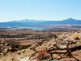 lake abiquiu from the trail by agent229