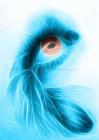 Fractal feathered eye by WitchiArt