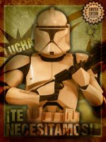 Star Wars Poster - Te necesitamos - We need you by DoctorAnonimous