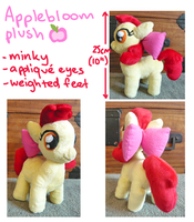 Applebloom plush by SilkenCat