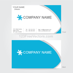 Vector Business Card Design Template by 123freevectors