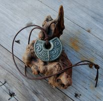 Earth Spirals Carved Pendant by DreamingDragonDesign