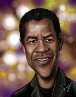 Denzel Washington Caricature by DarDesign