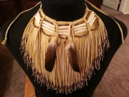 Native American leather fringed choker by TribalTerri