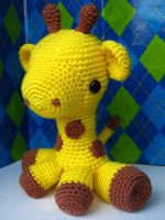 baby giraffe by craftiness