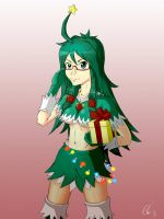 Christmas Tree-chan 3 years later by AlSklad
