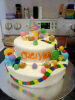 candy land cake by pinkshoegirl