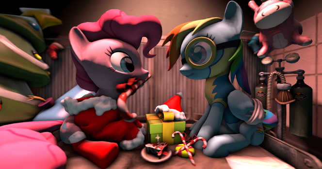 Pinkie's Christmas Therapy by SugarCube-Cake