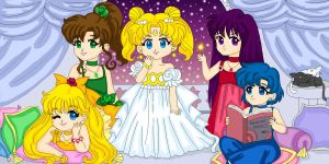 Chibi Princesses by Sailor-Serenity
