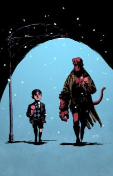 Hellboy and Number Five by GlebTheZombie