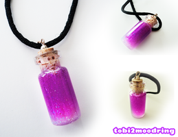.+Custom Mana Bottle Necklace for purplebunny100+. by tobi2moodring